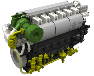 Dual-Fuel Engine ABC 6DL36 with HEINZMANN components